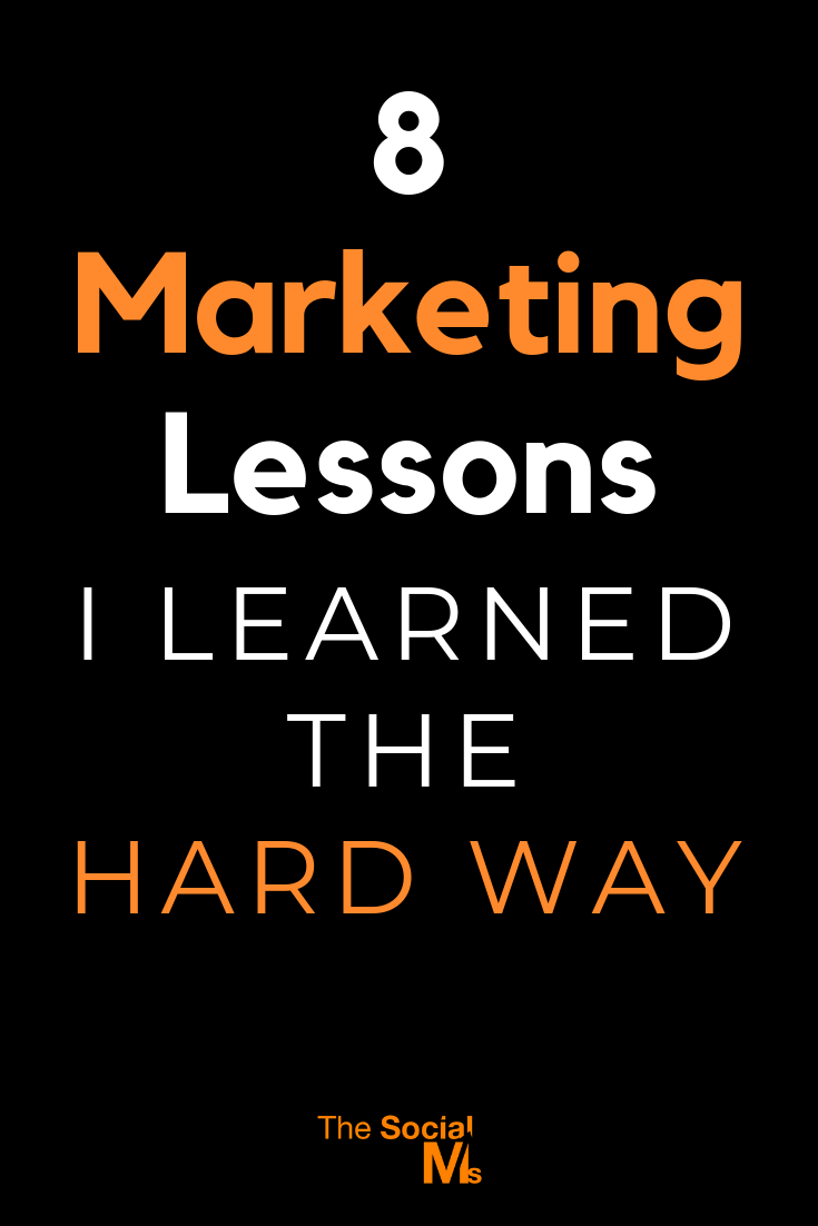 Marketing often sounds easy, and straightforward. But it is a rocky path. You get some marketing lessons for free - learn them or you will fail! Here are some of the lessons I had to learn. #marketinglessons #marketingtips #marketingstrategy #onlinemarketing