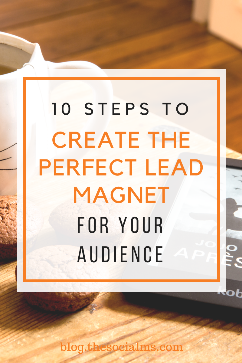 It is not trivial to create the perfect lead magnet. Here are 10 steps to help you create the perfect lead magnet to grow your email list. #leadmagnet #leadgeneration #salesfunnel #emailmarketing