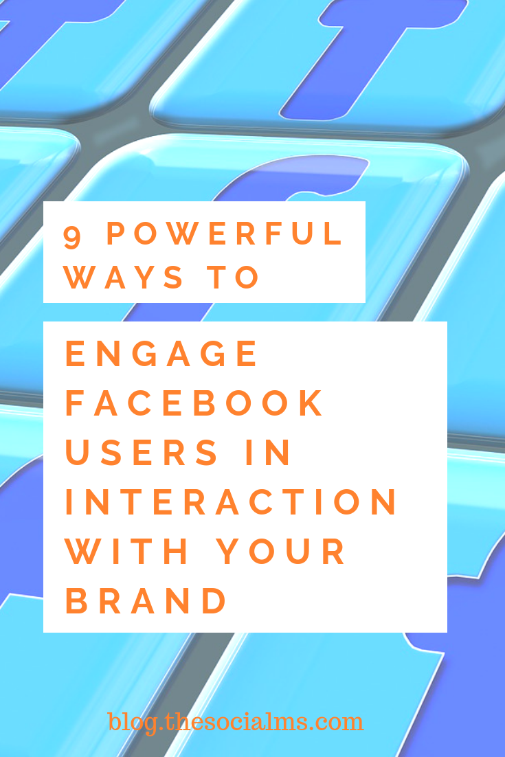 Use Facebook Engagement to your Advantage These are just a few ways in which you can boost the interaction between your brand and your Facebook audience. #facebook #facebookengagement #facebooktips #facebookstrategy