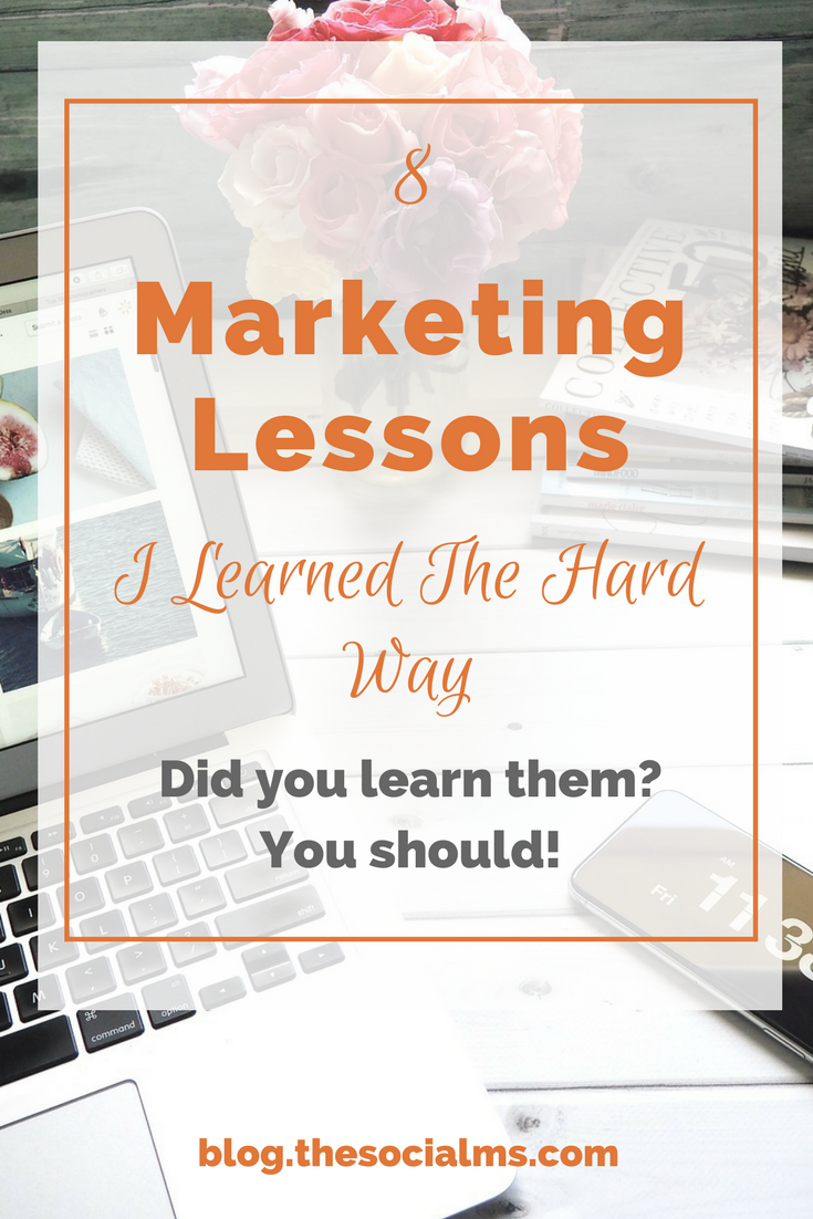 Marketing often sounds easy, and straightforward. But it is a rocky path. And you will get some marketing lessons for free - and you need to learn them or they will come back at you! marketing tips, marketing advice, marketing lessons