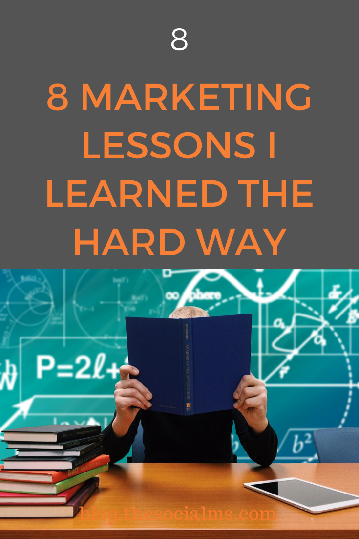 During the process of building your own marketing strategy, you will have to learn some marketing lessons. Here are 8 marketing lessons that I had to learn. #marketinglessons #marketingstrategy #smallbusinessmarketing #startupmarketing #entrepreneurship #onlinebusiness