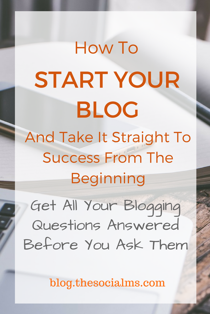 Starting a blog can be a bit frightening. There is so much to think about, so much to learn and to decide. But starting your blog the right way will help you to get on the fast track to success. blogging tips, blogging for beginners, start a blog, starting a blog