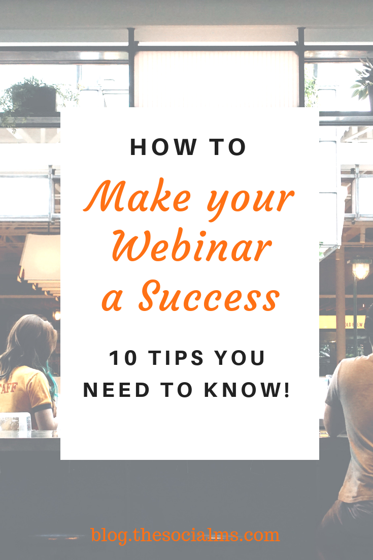 A webinar can help you promote the brand and establish its credibility. The question is: how do you make it work? We'll list 10 effective tips to make sure your next webinar is a win. #webinar #leadgeneration #makemoneyblogging #salesfunnel #bloggingformoney #onlinebusiness