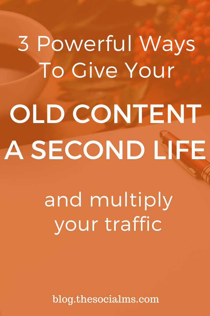 Here are some rather simple ways to give new life to your old and existing content. These methods are open to everyone and nothing fancy. Just things that have worked for us to give some of our already existing content a new spike in traffic! #blogtraffic #trafficgeneration #bloggingtips #blogpromotion #bloggingstrategy