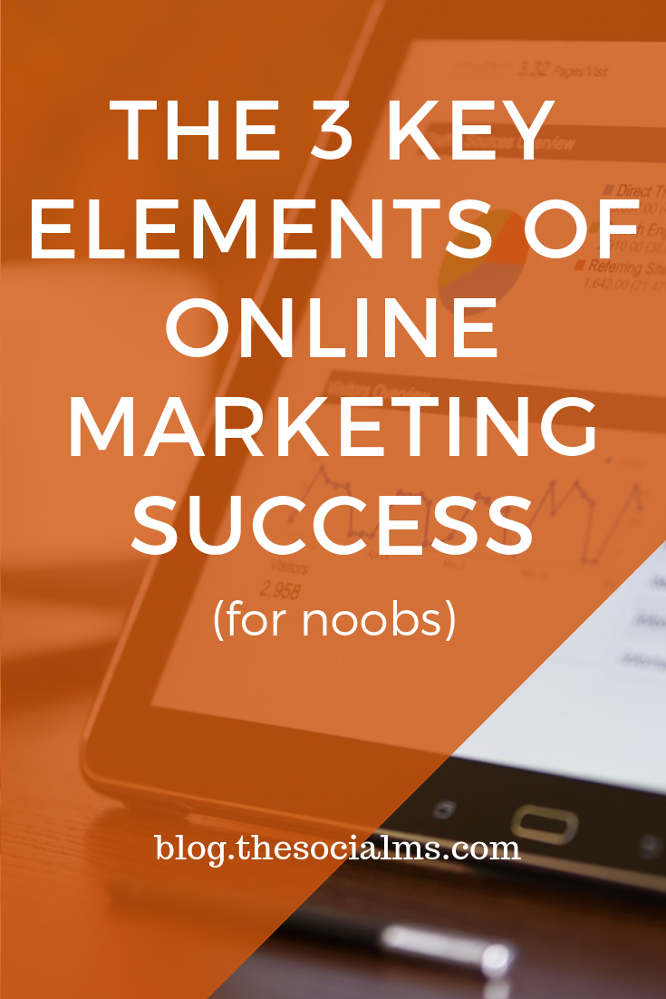 there are 3 key elements to online marketing success - here is what you need for a better marketing strategy #marketingstrategy #onlinebusiness #smallbusiness.