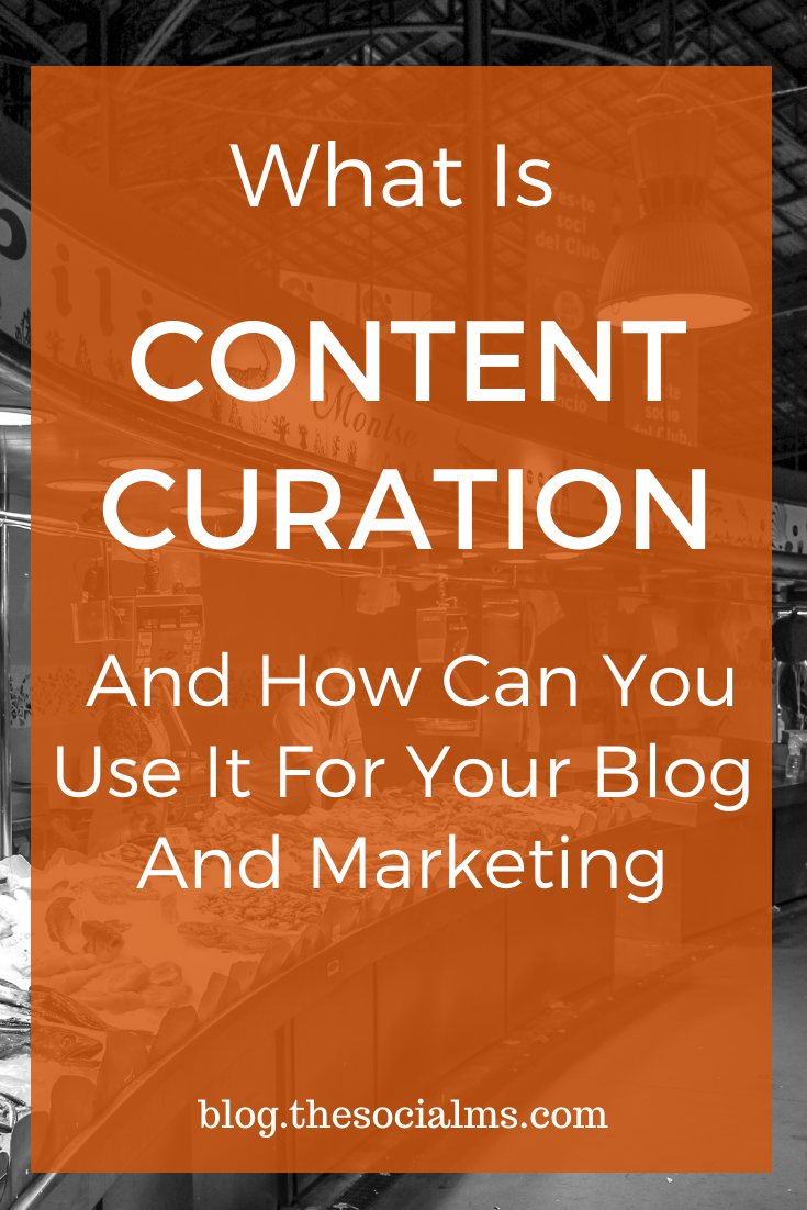 If you are active in online marketing and blogging, you will hear about content curation. If you are new to the game, you might easily get a little confused about what content curation really is and how you can use it to grow your blog and marketing. Here is how. #contentcuration #onlinemarketing #digitalmarketing #marketingbasics #smallbusinessmarketing