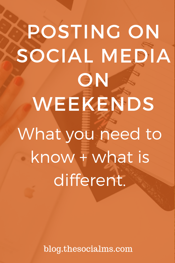 There are some very good reasons to keep your social media accounts active even on weekends. Here is what you need to know about posting on social media on weekends! social media marketing, social media strategy, social media success #socialmedia #socialmediamarketing #socialmediastrategy