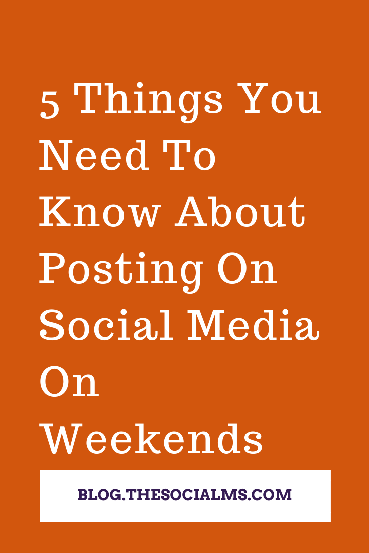 there are some very good reasons to keep your social media accounts active even on weekends. Here is what you need to know about posting on social media on weekends #socialmedia #socialmediatips #socialmediamarketing