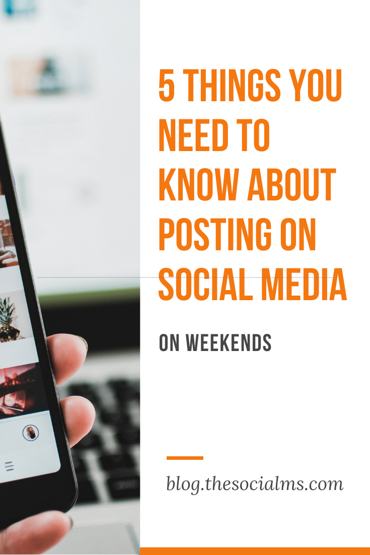 there are some very good reasons to keep your social media accounts active even on weekends, holidays – or even when everybody is off for a long summer vacation. #socialmedia #socialmediatips #socialmediamarketing #socialmediastrategy #socialmediaautomation