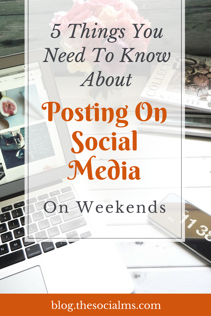There are some very good reasons to keep your social media accounts active even on weekends. Here is what you need to know about posting on social media on weekends! social media tips, social media marketing, social media strategy, digital marketing #socialmedia #socialmediatips #socialmediastrategy #digitalmarketing #onlinemarketing #onlinebusiness