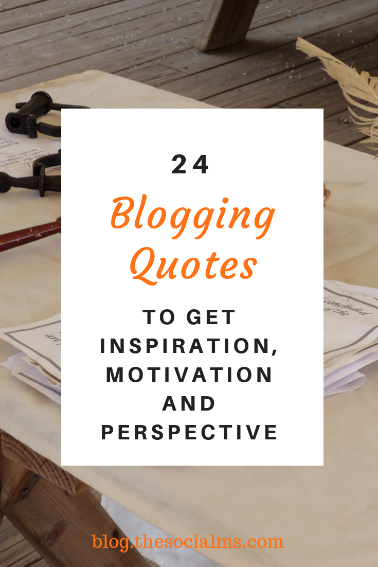 The following quotes are meant to give you valuable advice, inspiration - and motivate you to take action and start. #bloggingtips #bloggingquotes #quotes #motivationalquotes #bloggingforbeginners #startablog