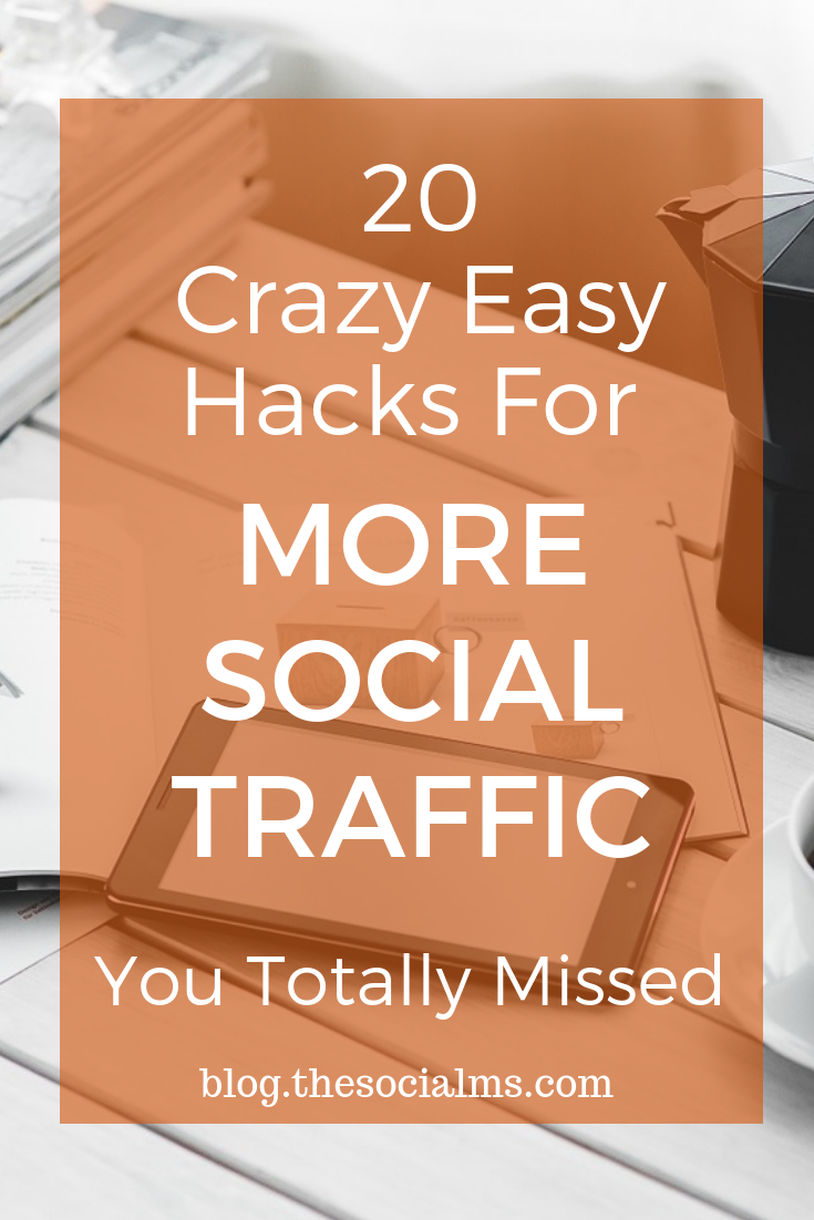 There are many tweaks and hacks which have tremendous power to multiply your social traffic with a few clicks, a couple of words, or a change of strategy. #socialtraffic #blogtraffic #socialmediatips #bloggingtips