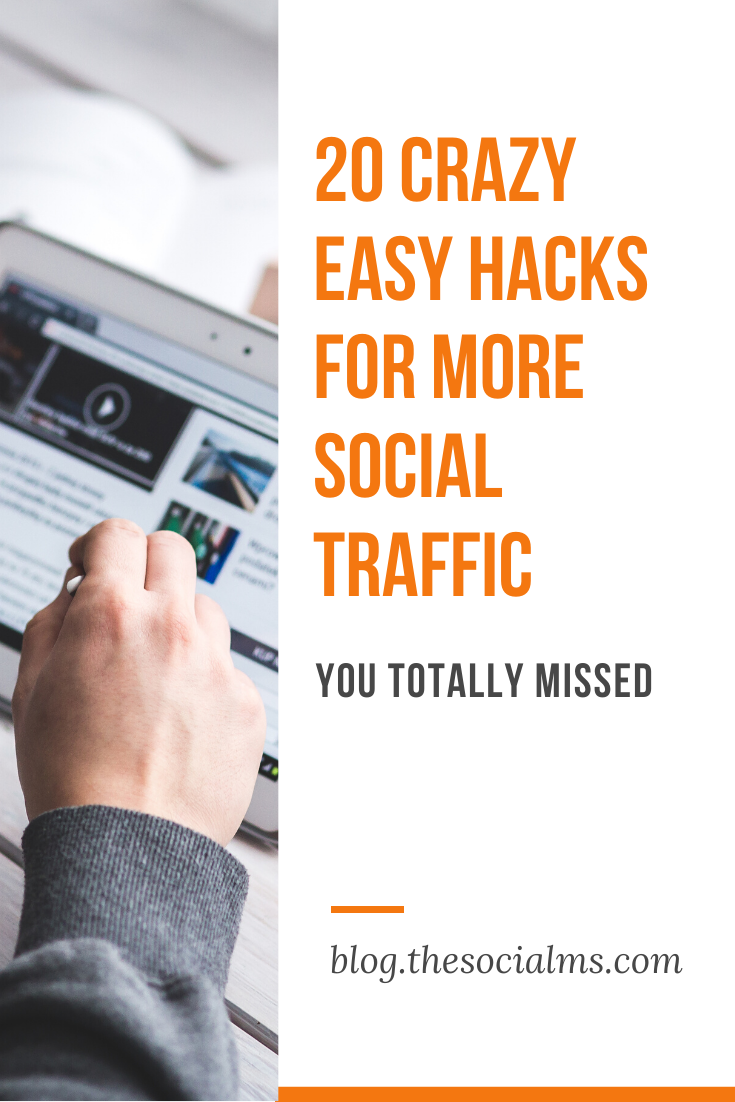there are many small tweaks and hacks that far too many people neglect and which have tremendous power to multiply your social traffic with the matter of a few clicks, a couple of words – or a tiny change to your strategy. #socialmedia #socialmediatips #socialmediamarketing #socialtraffic #blogtraffic #trafficgeneration