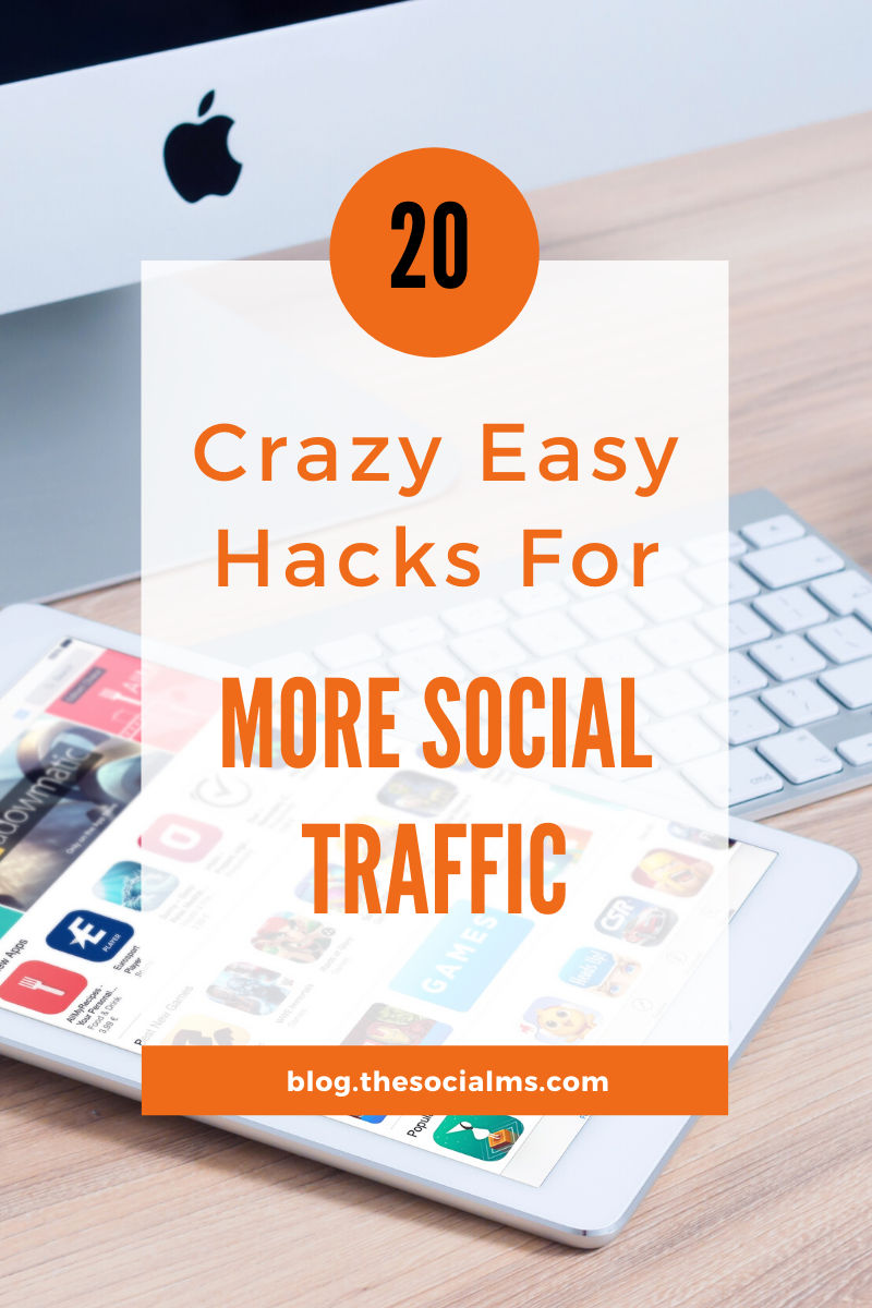 Here is a list of tweaks and hacks that have made a big difference for our traffic generation. Use some of these hacks to boost your social traffic. #socialmedia #socialmediamarketing #socialmediatips #blogtraffic #trafficgeneration