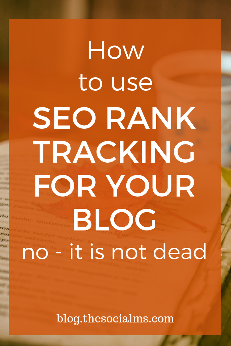 Rank tracking (tracking the organic positions of keywords you optimize your website for) has changed and changes usually make people quit. Here is how to do SEO rank tracking the new way #seo #seoranktracking #seomethods #searchengineoptimization #seoforbloggers