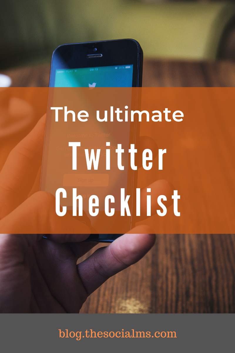 Here is your Twitter checklist to make sure that you have everything right and did not miss something really important. #twitter #socialmedia #twittertips #socialmediamarketing #smallbusinessmarketing