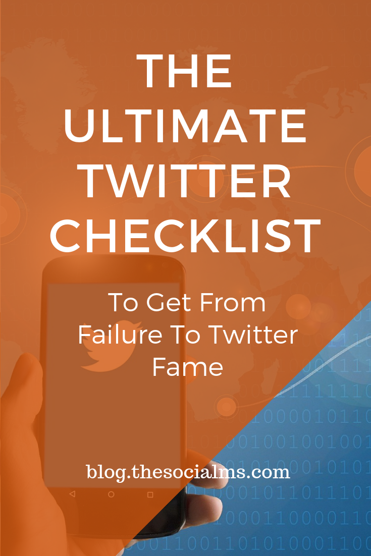 Twitter is simple. But it is not so simple to get your Twitter account to fame. Many people face utter Twitter failure. Here is your Twitter checklist to make sure that you have everything right and did not miss something really important. #twitter #twittertips #twittermarketing #twittersuccess #socialmedia #socialmediamarketing