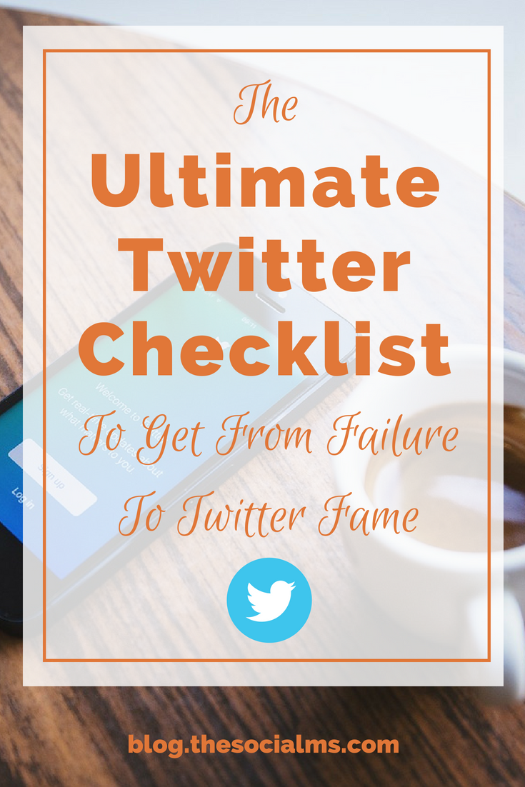 Twitter is simple. But it is not so simple to get your Twitter account to fame. Here is your Twitter checklist to make sure that you have everything right. twitter marketing strategy, twitter tips, twitter checklist, twitter fame #twitter #twittermarketing #twitterstrategy #twittertips