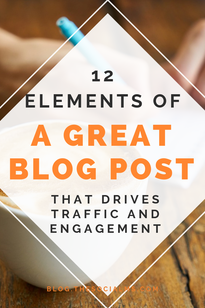 Do your blog posts contain the necessary elements of a great blog post that they need to drive traffic, get shared and inspire engagement? Here are the crucial elements of awesome blog posts #blogpostcreation #blogwriting #contentcreation #bloggingtips #bloggingforbeginners #startablog