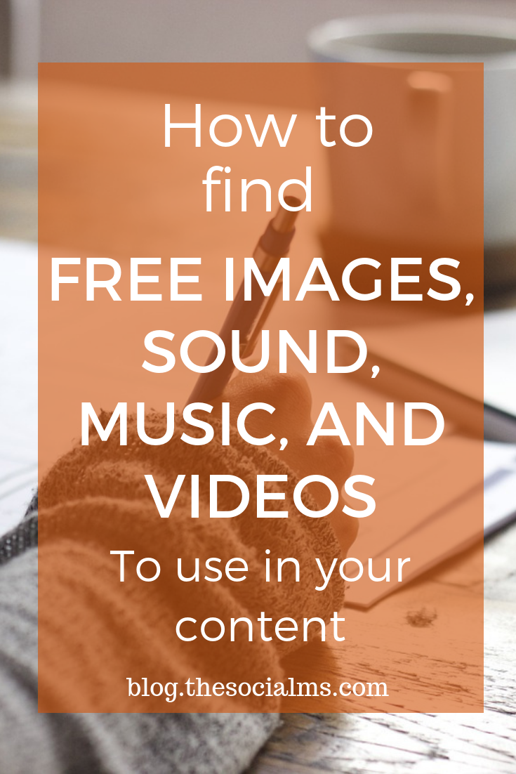 Bloggers, Podcasters, Youtubers all need content: Free Images, Music, Sound, Videos. Finding stuff that you can use legally can be tricky. Here is how to find free content! #bloggingtips #contentcreation #blogcontent #startablog #bloggingforbeginners