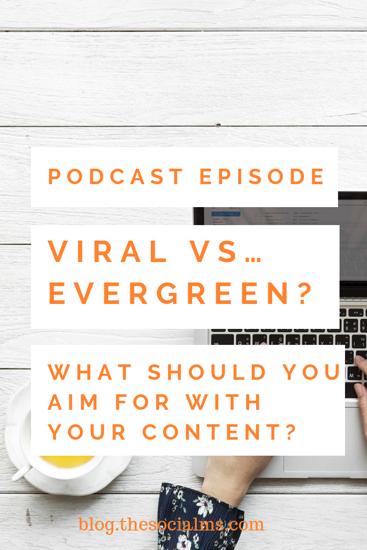 Going viral sounds great, right? But in reality, you may prefer producing evergreen content. And here is why #blogtraffic #trafficgeneration #viralblogpost #contentcreation #blogpostcreation #blogpromotion #bloggingtips