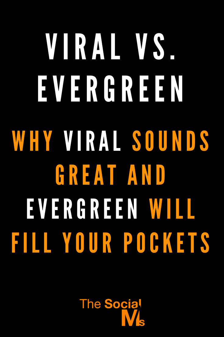 Going viral sounds great, right? But in reality, you may prefer producing evergreen content. #contentcreation #blogpostcreation #blogwriting #contentmarketing #bloggingtips #blogging101