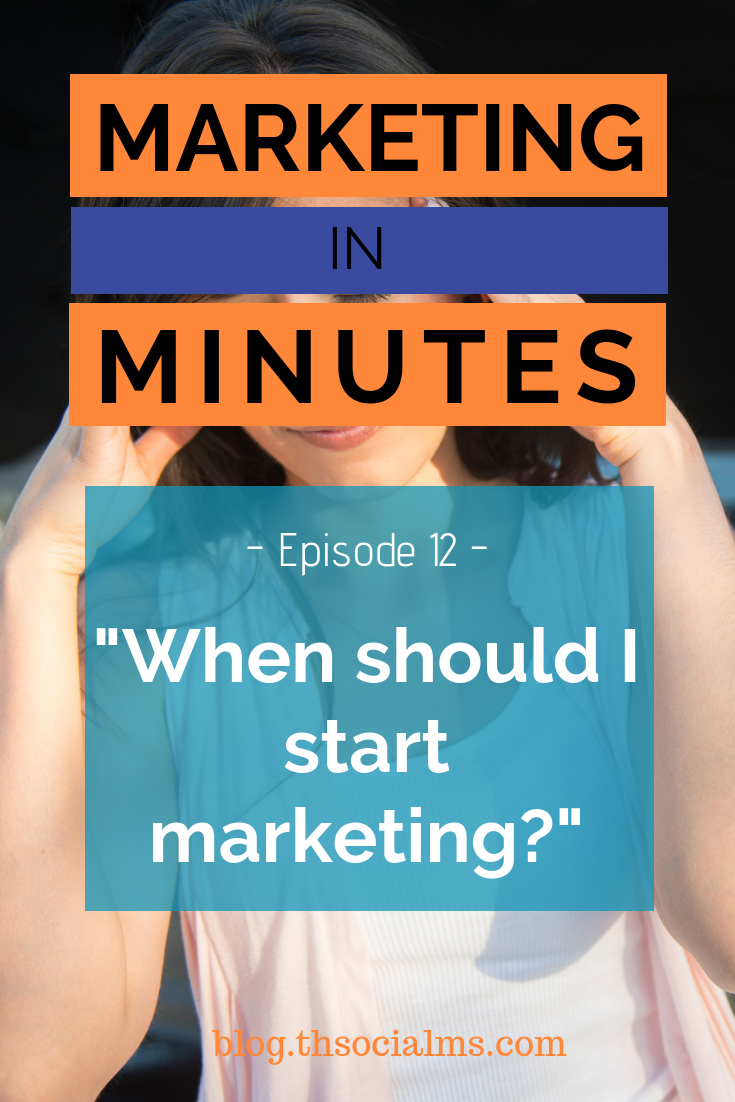 When is the right time for marketing? Learn the answer - in this episode of Marketing in Minutes by The Social Ms. marketing strategy, digital marketing, blog marketing, startup marketing, entrepreneurship #digitalmarketing #onlinebusiness #marketingstrategy #blogmarketing #entrepreneurship