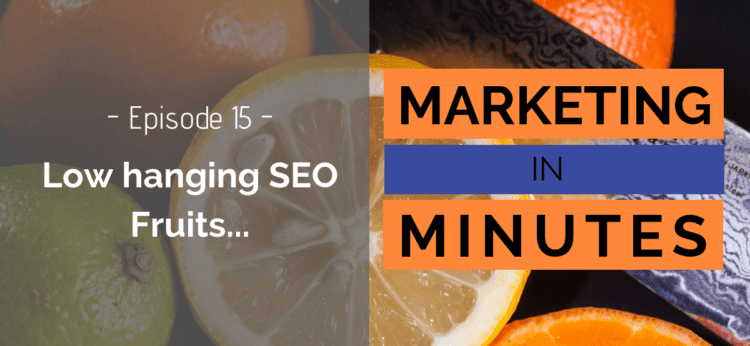 Marketing in Minutes Simple SEO Optimizations