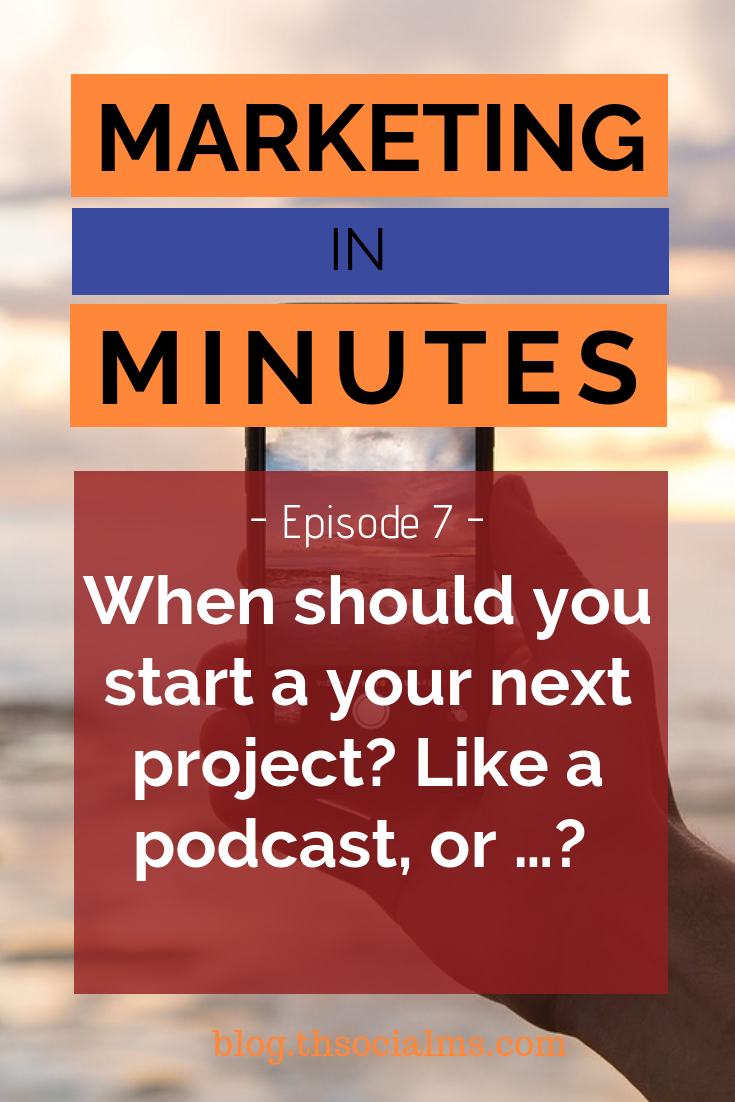 Blogging, Podcasting, Youtube, Facebook Live. Your options for creating content are endless. And something is always hot... But when is it really time to start something new? #onlinebusiness #digitalmarketing #smallbusiness #entrepreneurship #podcastepisode