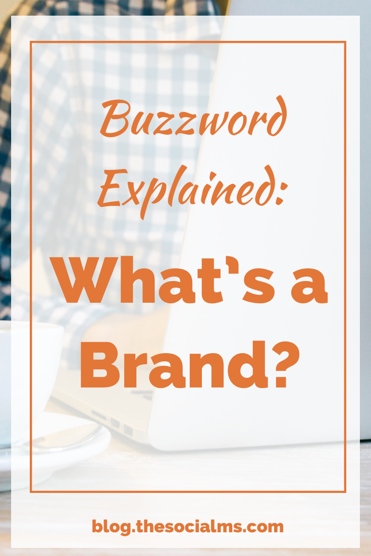 Marketers talk in buzzwords... we really just can't help it. Today, let me explain one of those buzzwords: What's a brand? #branding #smallbusinessmarketing #entrepreneurship #startupmarketing #bloggingtips