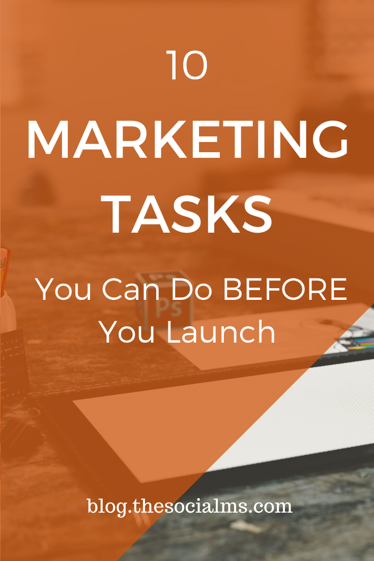 Your marketing should start as early as possible. Because everything you can have for free and everything that you can scale big time without spending big-time money on itneeds time to grow and prosper. You need time to learn.  So here is my list of 10 marketing tasks you can start doing for your marketing today #onlinemarketing #startingablog #bloggingforbeginners #blogging101 #productlaunch #marketingstrategy