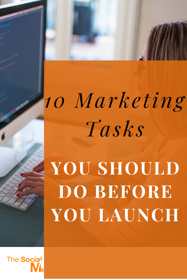 Your marketing should start as early as possible. Because everything you can have for free and everything that you can scale big time without spending big-time money on itneeds time to grow and prosper. You need time to learn.  So here is my list of 10 marketing tasks you can start doing for your marketing today #digitalmarketing #marketingstragey #onlinemarketing #smallbusinessmarketing #startablog #blogging101