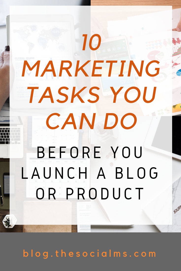 You think you cannot start your marketing and grow your audience before you start your blog or business? So wrong! Here is a list of marketing tasks you can start doing right now. #marketingtasks #smallbusinessmarketing #onlinebusiness #digitalmarketing