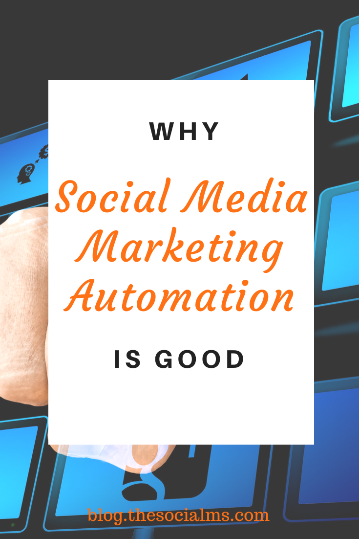 "Many social media marketing ""experts"" will tell you that social media marketing automation is wrong. They are wrong. If you follow this advice you will be missing out and at worst fail. Social media marketing automation can save your blog or business! socialmedia #socialmediamarketing #socialmediatips #marketingautomation"