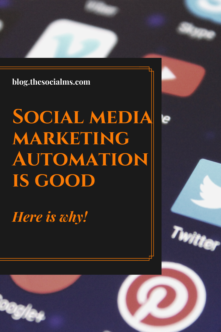 "Many social media marketing ""experts"" will tell you that social media marketing automation is wrong. They are wrong - and here you will learn why. #socialmedia #socialmediamarketing #marketingautomation #socialmediamarketingautomation #socialmediaautomation #socialmediatips"