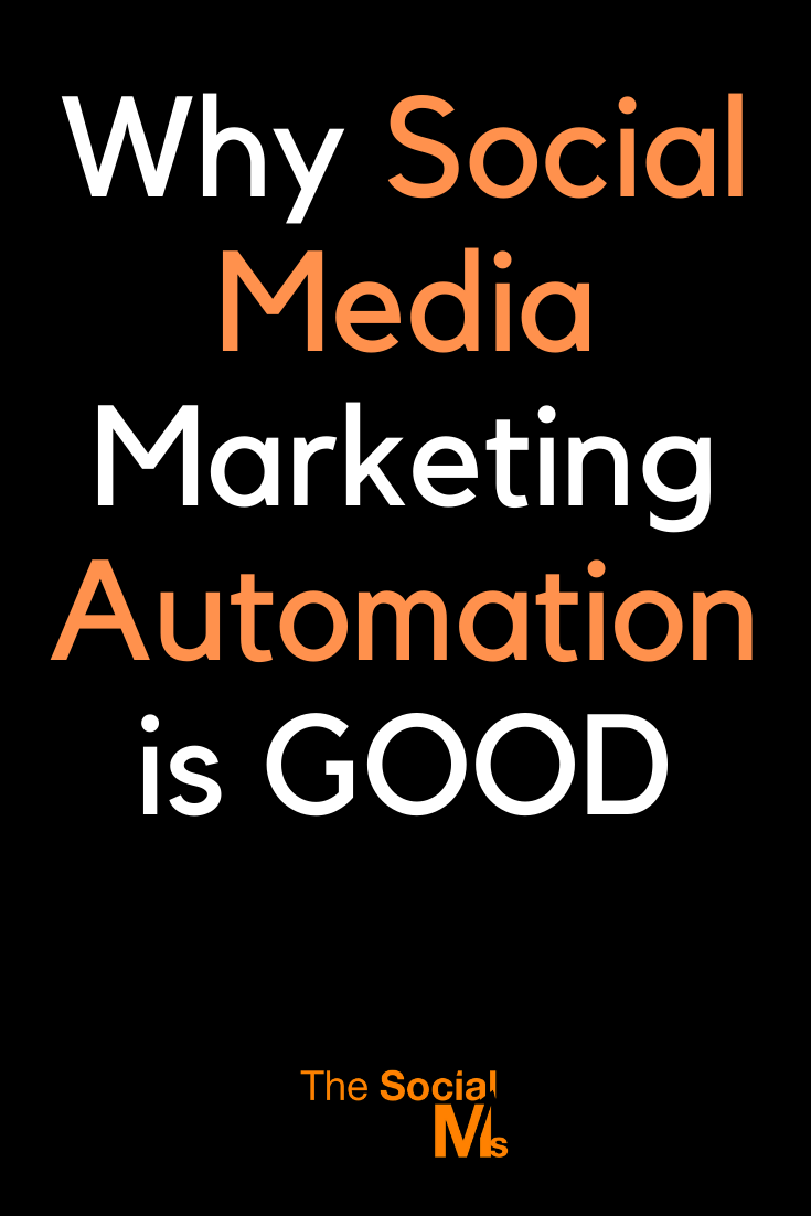 "Many social media marketing ""experts"" will tell you that social media marketing automation is wrong. They are wrong - and here you will learn why. #socialmedia #socialmediamarketing #marketingautomation #socialmediatips"