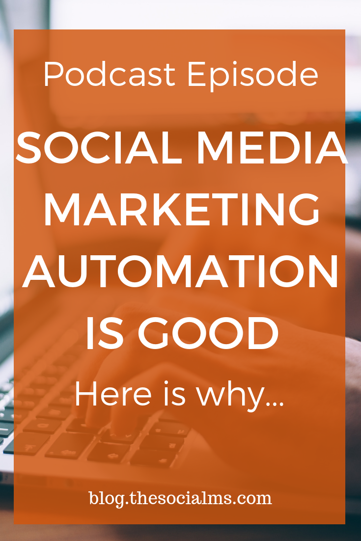 One of the worst pieces of social media marketing advice is that you should never automate. You can and you should us social media marketing automation #socialmedia #marketingautomation #socialmediaautomation #socialmediamarketing