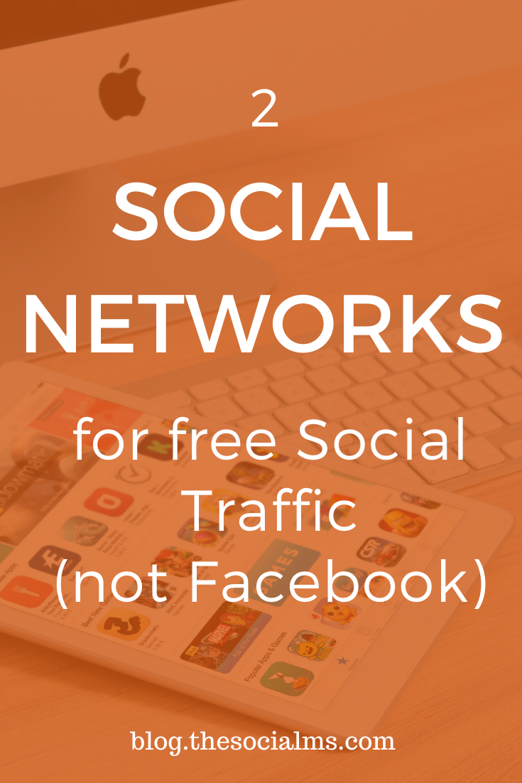If you want to get free traffic from social sites, you have to look beyond Facebook. Here are two social networks that are currently underutilized by marketers and bloggers for traffic generation. #blogtraffic #socialmedia #socialtraffic #bloggingtips #blogpromotion #socialmediatips #marketinginminutes
