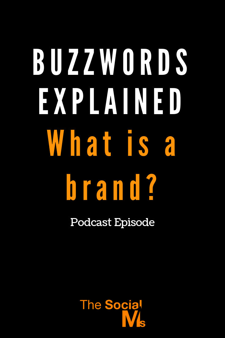 Marketers talk in buzzwords... we really just can't help it. Today, let me explain one of those buzzwords: What's a brand? #brandbuilding #branding #smallbusinessbranding