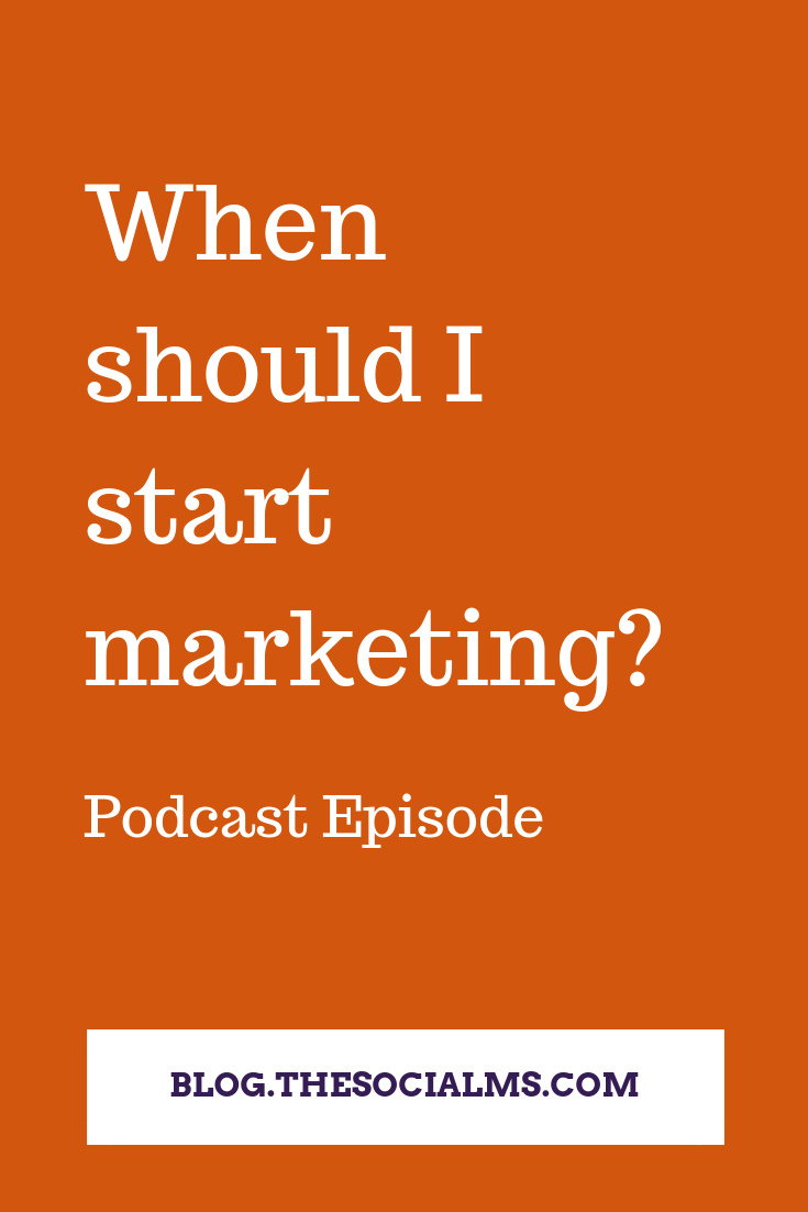 When is the right time for marketing? That's a question I get asked a lot - and I always answer the same thing. #onlinemarketing #digitalmarketing #smallbusinssmarketing #marketinginminutes