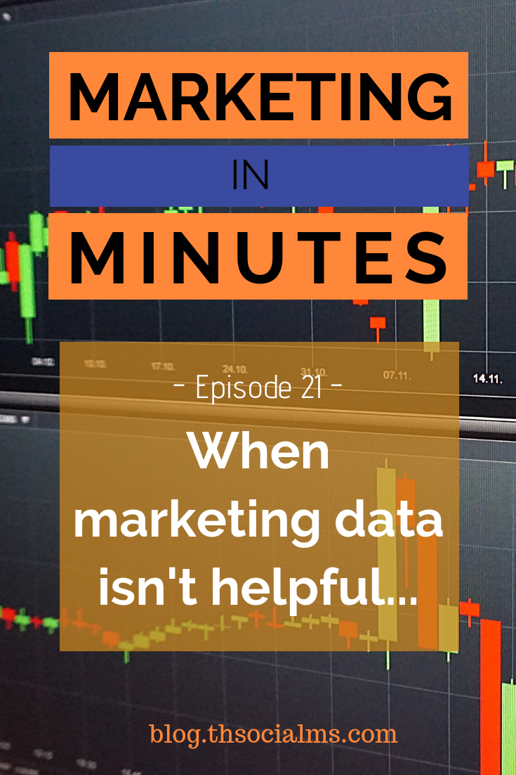 Marketing data is great... it can help you make the right business decisions. But if you aren't careful, it can also lead you the wrong way. Listen to this episode of Marketing in Minutes to find out when marketing data is not helpful. analytics, metrics, growth hacking, blogging in numbers #marketingdata #analytics #marketingstrategy #onlinebusiness