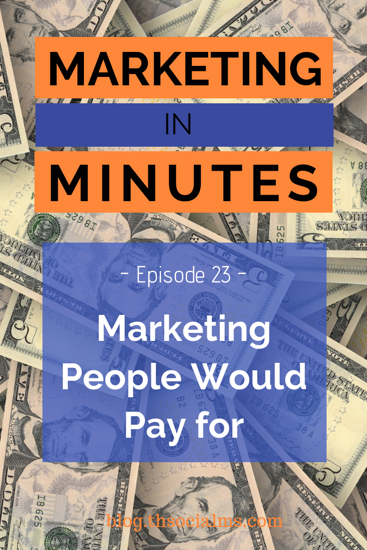 What if you could do marketing that good, that even if you asked for money, people would pay to watch your ads or consume your content. #marketingstrategy #onlinebusiness #digitalmarketing