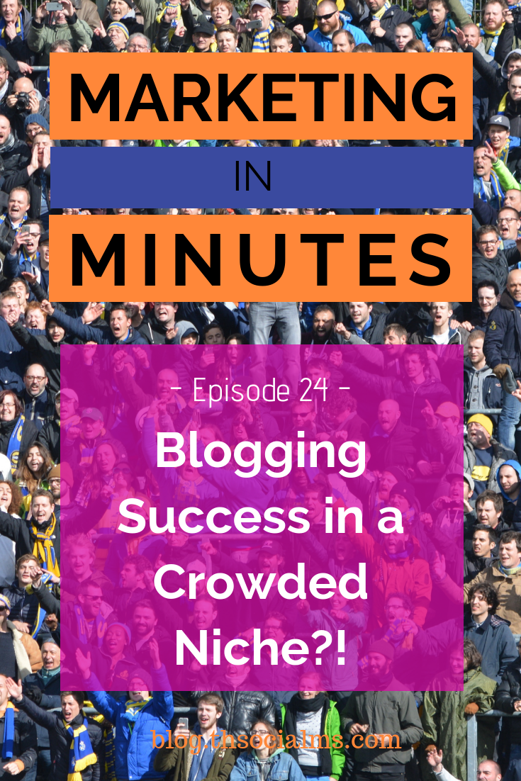 Standard advice for new bloggers is: Find a niche that isn't crowded. But finding a niche without competition is hard - and it's even harder to find one that you really care about. Is it possible to succeed with blogging in a crowded niche? #bloggingsuccess #startablog #bloggingforbeginners #bloggingtips