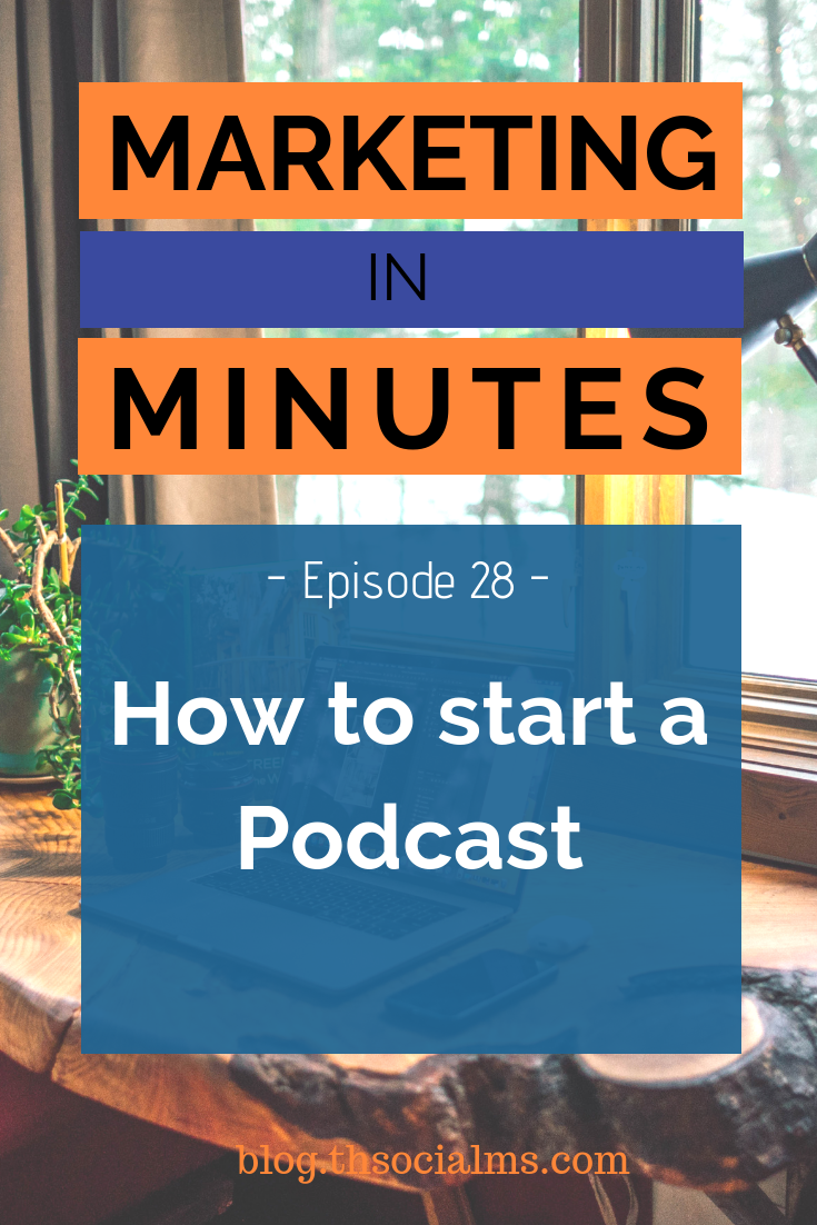A podcast can be the next step for your business - or the start of it. But how do you start one? What are the steps you need to go through? #podcast #contentcreation #startapodcast #bloggingtips #blogpostcreation #blogwriting #contentmarketing #marketinginminutes