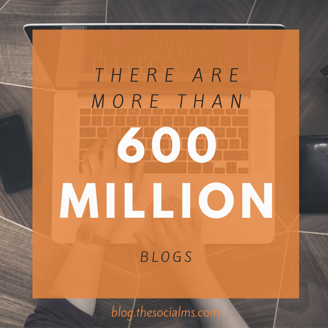 There are more than 600 Million Blogs