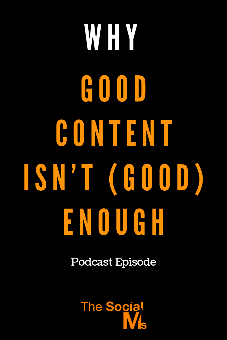 we have to fight hard to get eyes on our content. Here is why good content isn't good enough anymore. #contentmarketing #bloggingtips #blogpromotion #contentdistribution #blogtraffic