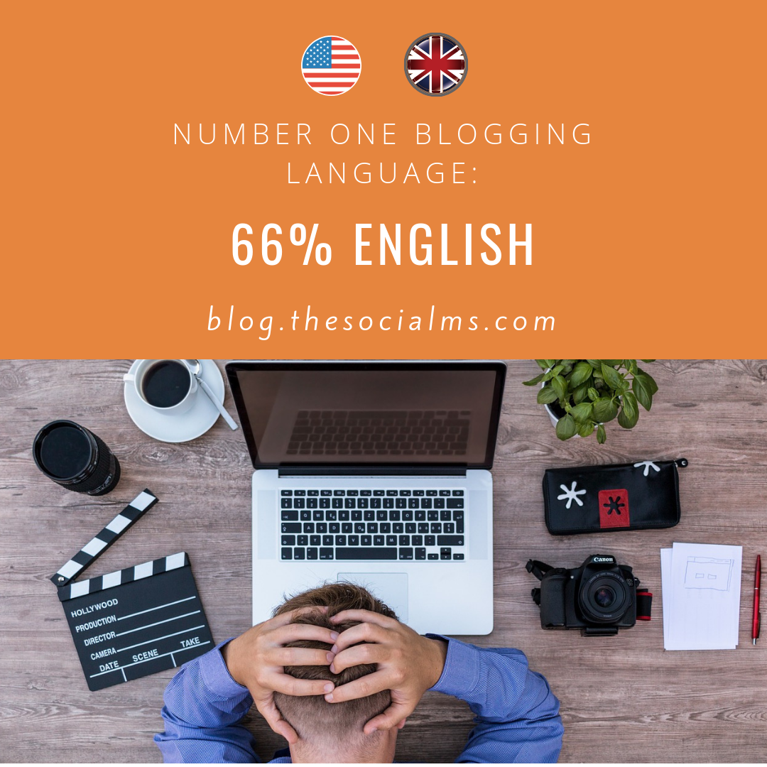 most blogs are in English language