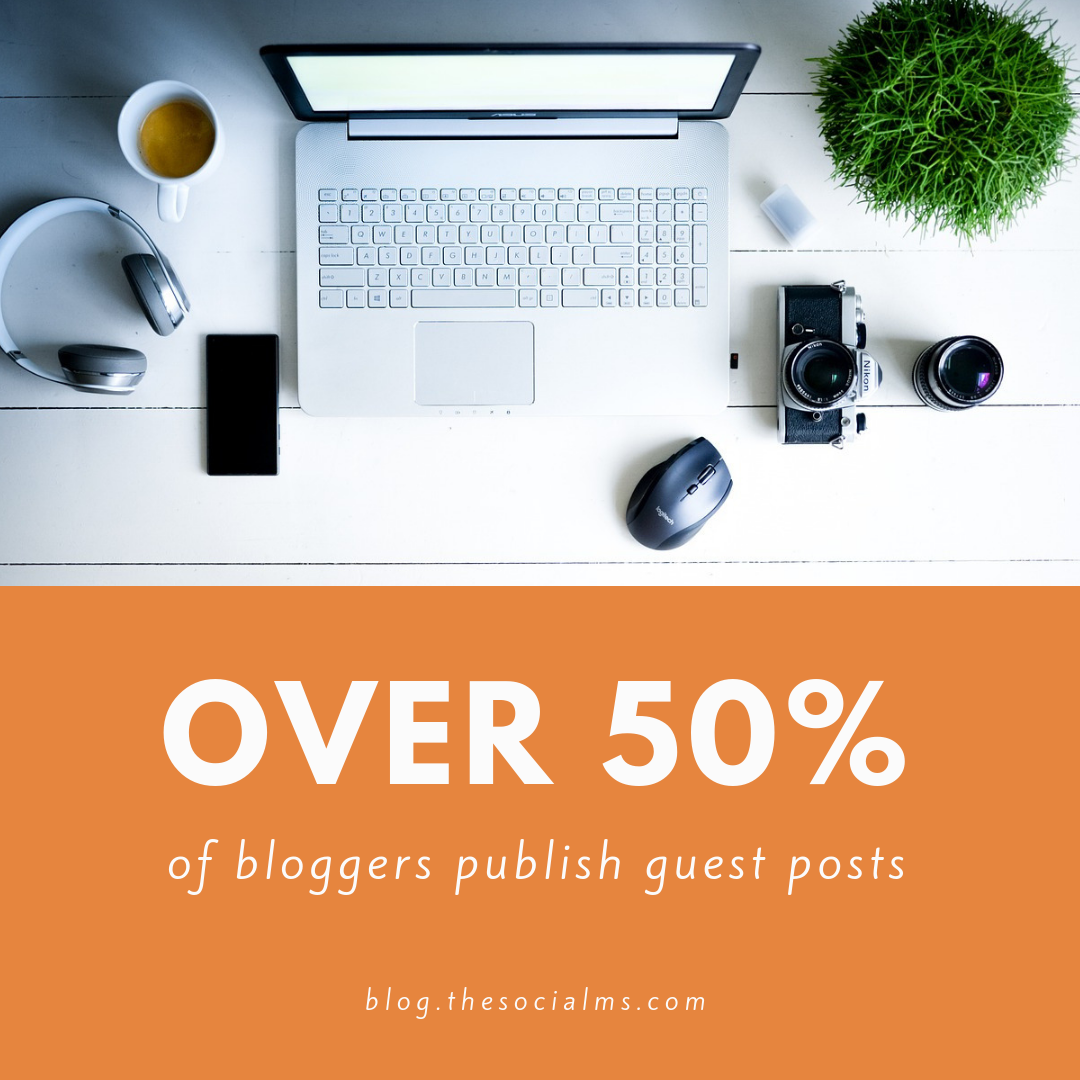 over half of all bloggers publish guest posts