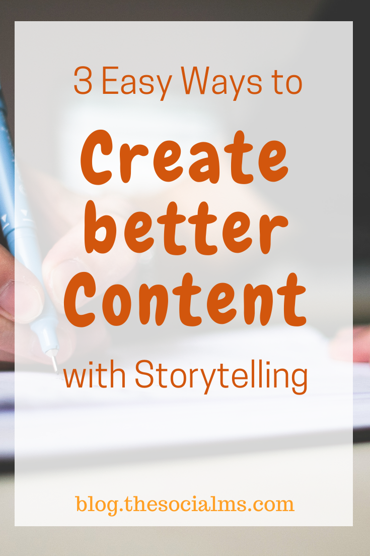 Storytelling can let your content stand out, it makes your content connect with your readers, and it will generate better engagement, traffic, and eventually make you more money. #storytelling #blogwriting #blogpostcreation #contentcreation