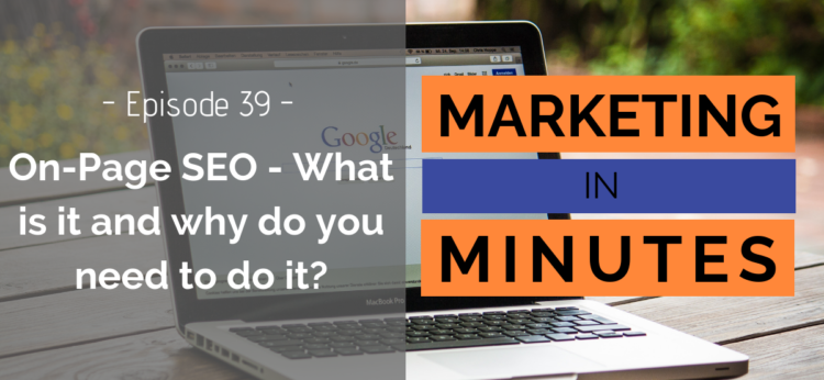 Marketing in Minutes - On-Page SEO
